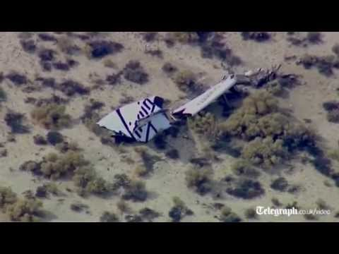 One pilot was killed and another seriously injured when Virgin Galactic\'s prototype commercial spaceship crashed in the desert on Friday.  The accident left debris from the test plane scattered across the desert near Mojave.  Virgin Galactic said its SpaceShipTwo craft had \