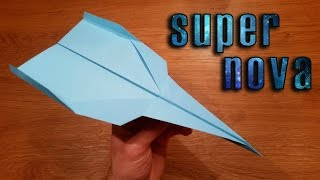 How To Make a Paper Airplane That Flies 100 Feet | Supernova
