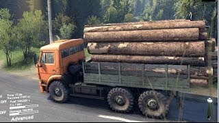 SPINTIRES 2014 Full Version Preview - Kamaz Loaded With Logs