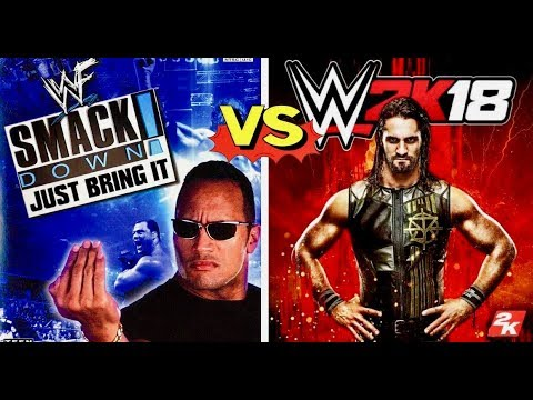 WWF Smackdown Just Bring It Finishers VS WWE 2K18 Finishers Comparison👌😍 WHO IS THE BEST👌😍 thumbnail