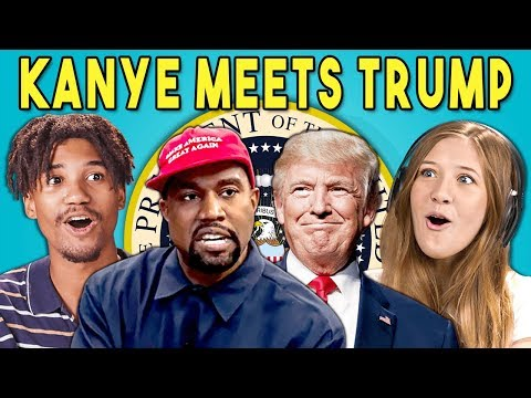 Teens React To Kanye West Meets Donald Trump (Memes/Oval Office Meeting)