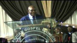 Moderator African Gospel Church AGC PE APRIL 2015 INGQONDO