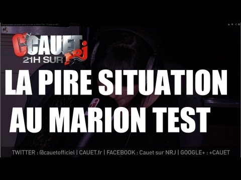 La pire situation qui puisse arriver à un mec au Marion Test - C'Cauet sur NRJ