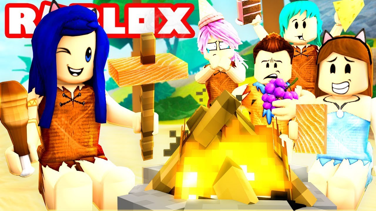 EATING ALL THE FOOD ON A STRANDED ISLAND! | Roblox Booga Booga