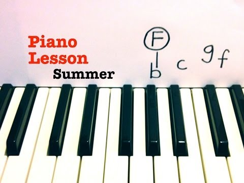 Summer ★ Piano Lesson ★ EASY ★ Calvin Harris