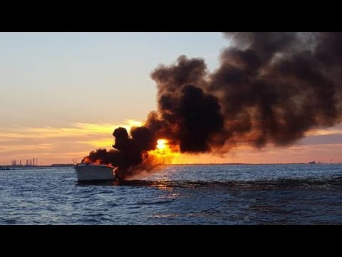 Boater Rescues Four After Yacht Fire Near Galveston, Texas
