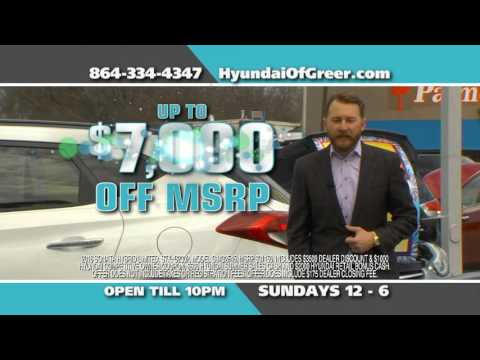 Hyundai of Greer - Seize The Moment Sales Event