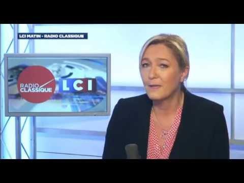 Marine Le Pen, invitée de Guillaume Durand avec LCI