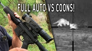 PMP Full Auto Coon Hunt with THERMAL Night Vision! | VLOG