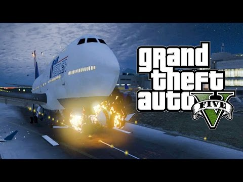 Best GTA 5 Airplane Take Off Crashes Episode 2