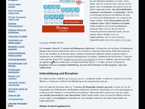 Schüssler Salze Informations Portal Online