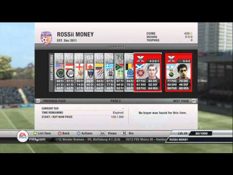 Fifa 12 Ultimate Team - Trading Pure Profits - Episode 1