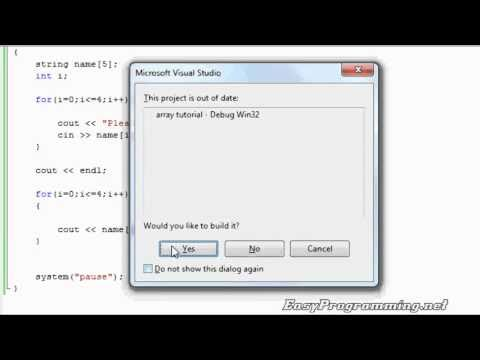 Easy Programming - Beginner C++ Tutorial - Simple Array Tutorial (16)
