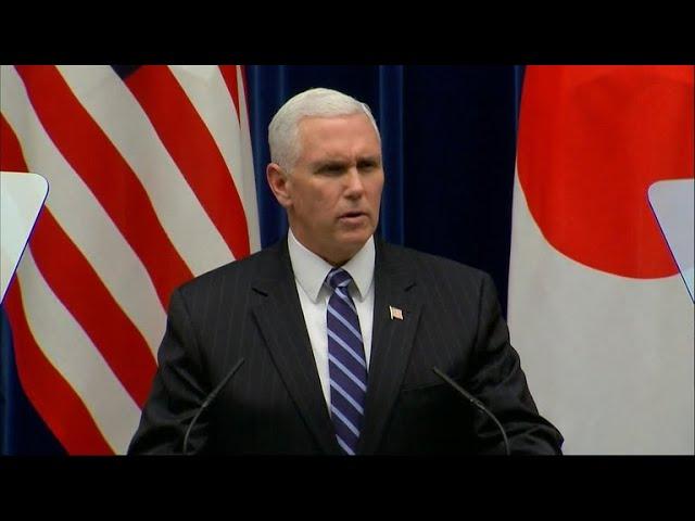 VP Pence announces plans for new North Korea sanctions