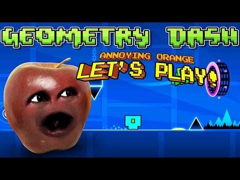 Midget Apple plays Geometry Dash   Dubstep FTW!