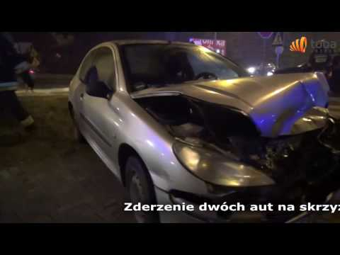 zderzenie dwóch aut Brzeg 20 12 2016