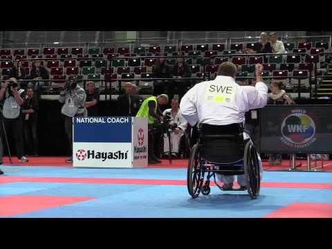 Swedish wheelchair karateka - 2014 World Karate Championships