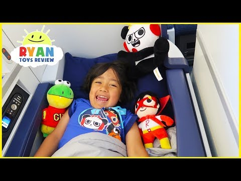 Ryan ToysReview Airplane ride with Pretend Play Toys!!!!