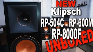 Klipsch Reference Premiere Speakers RP-8000F RP-504C RP-600M MEGA Unboxing!