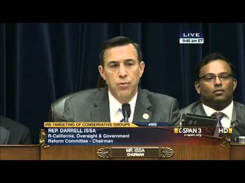 Darrell Issa (R-CA) Opens IRSgate Hearings W/Powerful Opening Statement - 2013.05.22