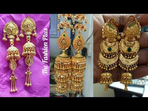 Latest Gold Jhumki Designs