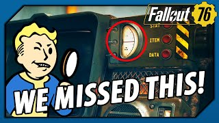 FALLOUT 76 - HOW did we MISS THIS!? Look at the Pip-Boy Radiation Level!