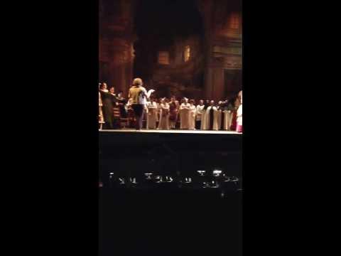 Portland Opera. Tosca. Happy Birthday.