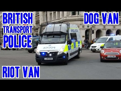 NEW ['64] - British Transport Police riot van & dog van responding