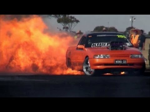 World's Biggest Burnout Fire!