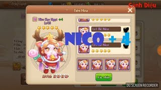 CẢNH DIỆU GUNPOW -Tăng Pet Nico 4 Sao , hình thái cuối , tốn 4 con Nico 5 Sao , gần 5k Kim Cương