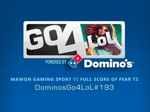 Mawon Gaming Sport vs Full Score of Fear T2 - Octavos - #DominosGo4LoL 193 - Español