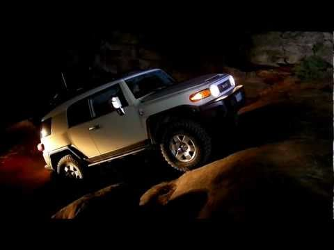 0 2 Rubicons and an FJ on Gold Bar Rim at Night  The Giant Ledge