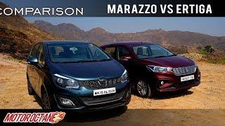 Mahindra Marazzo vs Maruti Ertiga 2018 Comparison | Hindi | MotorOctane
