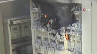 Kahramanmaraş'ta Trafo Yangını