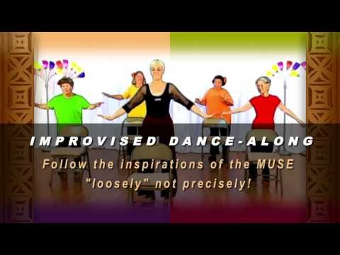 Older adult fitness exercises - Senior dancing exercise behind a chair