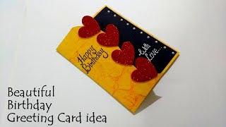 Beautiful Birthday Greeting Card Idea | DIY Birthday card  | complete tutorial
