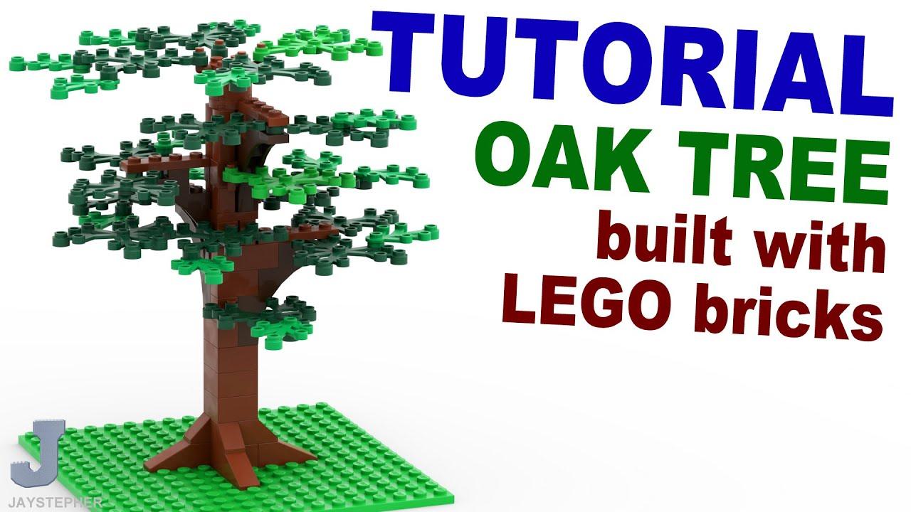 Tutorial - Lego Oak Tree [CC] - YouTube