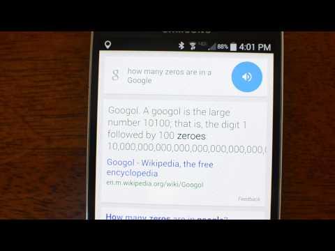 Okay Google: How many zeros are in a googol?