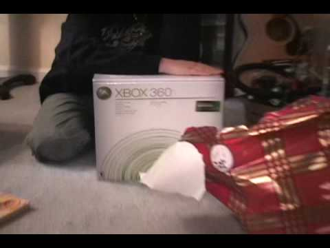 XBOX 360 for XMAS makes boy cry with JOY!!! High Definition!