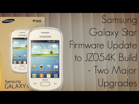 Samsung Galaxy Star Firmware Update to JZ054K Build - Two Major