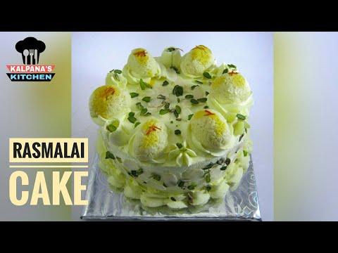Rasmalai cake | How to make eggless rasmalai cake at home | cake decorating tips #8