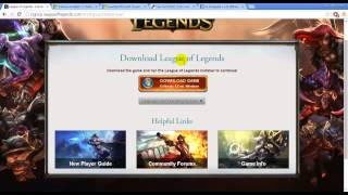 How to download and install League of legends for windows xp sp2
