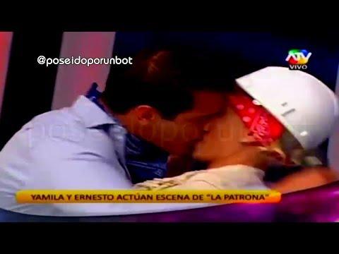 COMBATE: Beso de Ernesto y Yamila Piñero con Chicle 06/11/13