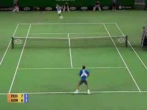 Roger Federer / Fernando Gonzalez AOpen Final Highlights