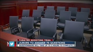video The first of a pool of thousands of potential jurors will have to fill out a questionnaire as the first part of the jury selection gets underway Tuesday. ◂ T...