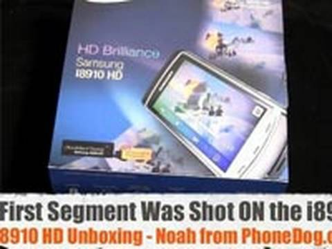 Samsung i8910 HD - Unboxing