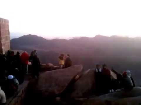 Mount sinai at sunset Egypt