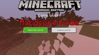 How to Play Hardcore  Survival Mode in Minecraft Bedrock Edition (MCPE)
