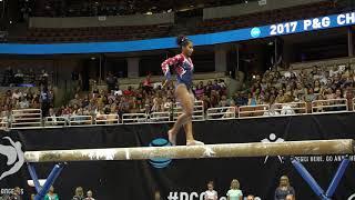 Jordan Chiles - Balance Beam - 2017 P&G Championships - Senior Women - Day 2 by : USA Gymnastics