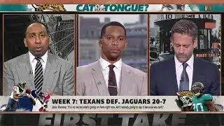 Stephen A  Blake Bortles is 'garbage' to Jaguars' elite defense  First Take